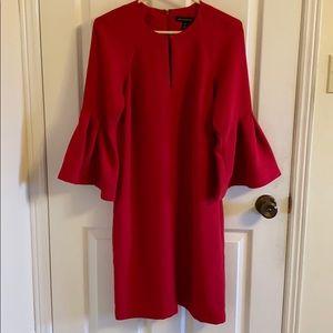Banana Republic bell sleeve dress (red)